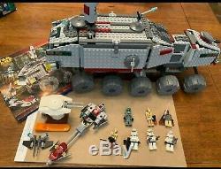 100% Set LEGO Star Wars 7261 Clone Turbo Tank With Mace Windu Light Up Lightsaber