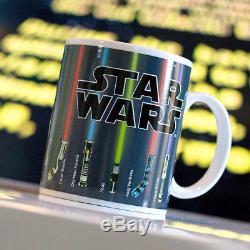 11oz Star Wars Lightsaber Ceramic Heat Color Changing Magic Mug Coffee Cup