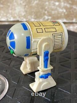 1985 Kenner Star Wars Droids R2D2 Pop-up green lightsaber saber Complete LOOK