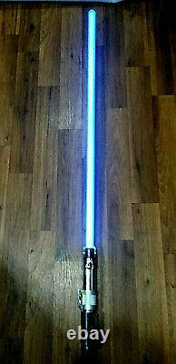 Anakin Skywalker Master Replicas Force Fx Lightsaber 2005 Blue Blade / Tested