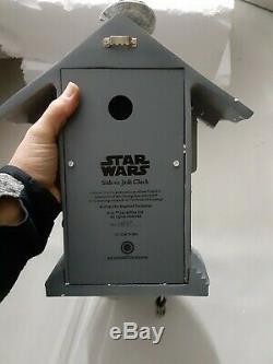 Bradford Exchange Star Wars Sith vs. Jedi Clock WithLight-up Sabers & Sound READ