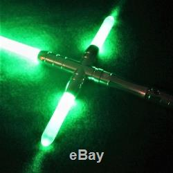 Custom All Metal L7 Lightsaber with Crossguard Sound and Light Effects