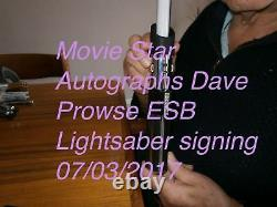 Darth Vader master replicas ESB Lightsaber hand signed & used by Dave Prowse COA