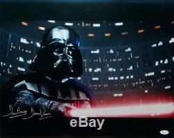 David Prowse Darth Vader Signed Star Wars 16x20 Light Saber Photo- JSA Auth L-S