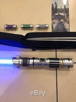 Disneyland Star Wars Galaxy's Edge Custom Light Saber from Savi's Plus 3 Kybers