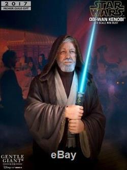 Gentle Giant Star Wars Obi Wan Kenobi Light Up Saber Exclusive Bust New