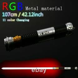 Hot Star Wars Luke Skywalker Lightsaber Silver Metal 11 Colors RGB Light Replica