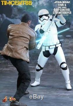 Hot Toys MMS346 Star Wars Finn First Order Riot Control Stormtrooper set New