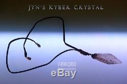Jyn's Kyber Crystal Pendant Necklace Rogue One Star Wars erso cosplay lightsaber
