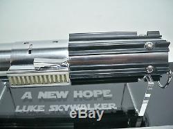 K1712663 Luke Skywalker Lightsaber Hilt Star Wars 2004 Master Replicas Lucasfilm