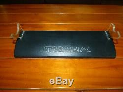 Light Saber Star Wars Force FX & Stand 2005 Master Replicas Sounds Blue Light