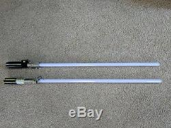Lot of 2 2005 Force FX Lightsabers (Darth Vader, Anakin Skywalker)! Untested