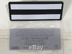 Master Replicas LUKE SKYWALKER Lightsaber Star Wars ROTJ V2 LimitedEdition SW171