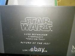Master Replicas Star Wars Sw-171 Luke Skywalker Ep6 Version 2 Le Lightsaber Nib