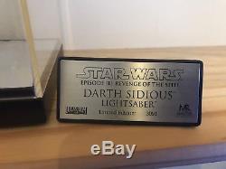 Master Replicas darth sidious Lightsaber