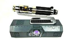 NEW Star Wars Galaxy's Edge MACE WINDU Legacy Lightsaber with26 Blade & Stand
