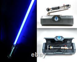NEW Star Wars Galaxy's Edge OBI WAN KENOBI Legacy Lightsaber with26 Blade & Stand