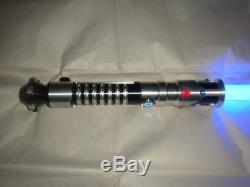 New Blue Obi Wan Kenobi TPM Phantom Menace style Lightsaber With Sound FX + FLASH