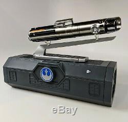 New Star Wars Disney Galaxy's Edge Rey Lightsaber with Blade & Premium Stand