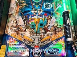 Pinball Williams Star Wars Episode I 1999 Flipper Orig. Glass Update Light Saber