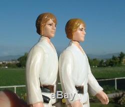 RARE Luke Farmboy 1977 LIGHT BROWN HAIR ORIG. LIGHTSABER Vintage Star Wars