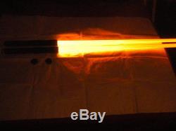 Rare Darth Maul Style ORANGE Double Lightsaber Staff New Dueling FX Ultrasabers