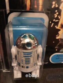 Rare Unpunched MOC PALITOY TRI-LOGO Star Wars R2D2 Pop-up Light Sabre GRADED