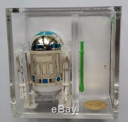 STAR WARS POTF R2-D2 With POP-UP LIGHT SABER AFA U85+ GOLD! ALMOST A U90! RARE MOC