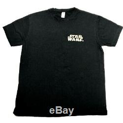 STAR WARS Rouge One Cast and Crew Electrical Department 2015 Shirt Light Saber M