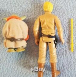 Star Wars 1980 Yoda Luke Skywalker Action Figure Cardback rob, snake light saber