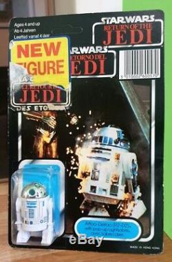 Star Wars 1983 Kenner R2-d2 Pop-up Light Saber. Tri-logo. Unpunched Card. Afa