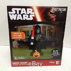 Star Wars Darth Vader light saber pumpkin Halloween Prop Life size inflatable