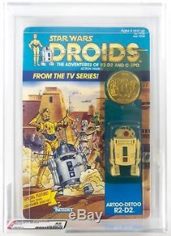 Star Wars Droids R2-D2 Pop Up Lightsaber AFA Y85