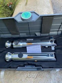 Star Wars Galaxy Edge Ahsoka Tano Hilt Legacy Lightsaber Brand New & 2 Blades