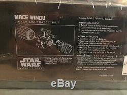 Star Wars Galaxy's Edge Legacy Light Saber MACE WINDU + 36 Blade + Opening Map
