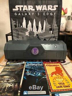 Star Wars Galaxy's Edge Legacy Light Saber MACE WINDU, Reusable Bag, Ogas Menu
