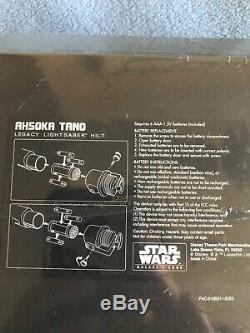 Star Wars Galaxys Edge- Ashoka Tano Light Saber With blades