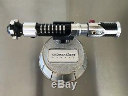 Star Wars Kenobi Skywalker Graflex lightsaber Hilt Prop With Metal Display