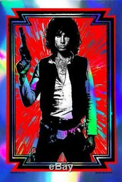 Star Wars'Light My Saber' Han Solo Matt Dye poster/print Jim MorrisonDoors Foil