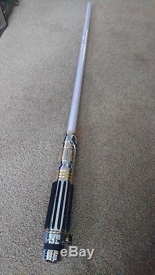 Star Wars Mace Windu Force Fx Lightsaber 2005 Master Replicas
