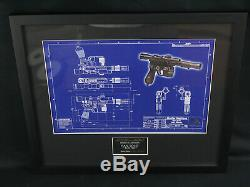 Star Wars Master Replicas L. E. Blueprints Han Blaster, Luke & Obi-Wan Lightsaber