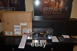 Star Wars Master Replicas Obi-Wan Kenobi Lightsaber ROTS LE Very Rare Mint