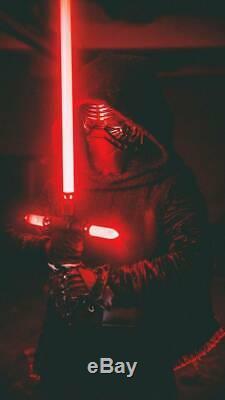 Star Wars Metal Lightsaber Combat Training Light saber Kylo Ren Cross-bar (Red)