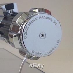 Star Wars Obi-Wan Kenobi Lightsaber Hilt Master Replicas 2005 Prop with Display
