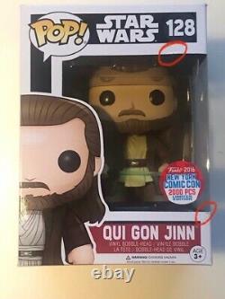 Star Wars Qui Gon Jinn #128 Funko Pop Vinyl Figure. 2016 NYCC 2000 Pieces