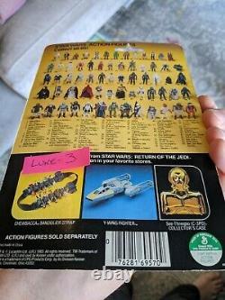 Star Wars ROTJ Luke Skywalker Figure 1983 Kenner 65-Back MOC Unopened
