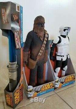 Stars Wars 18 Chewbacca, 18 Scout Trooper & Light Saber by Hasbro