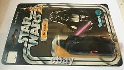 Vintage 1977 Star Wars Darth Vader 12 Back Kenner Original Package Sealed