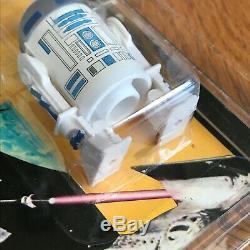 Vintage Glasslite Star Wars POTF MOC AFA50 R2-D2 Pop-Up Lightsaber variation