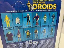 Vintage Kenner STAR WARS DROIDS 1985 R2-D2 pop up lightsaber Canadian AFA 85